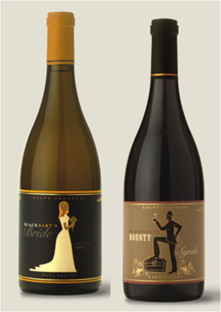 These Wine Bottles By Krupp Bothers Winery Would Make A Great Set For Bride Groom At Stock The Bar Wedding Shower
