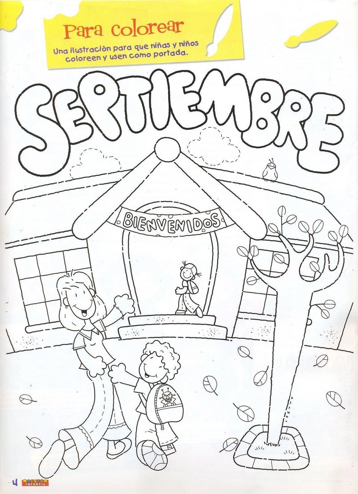 Calendario De Septiembre Para Pintar Imagui