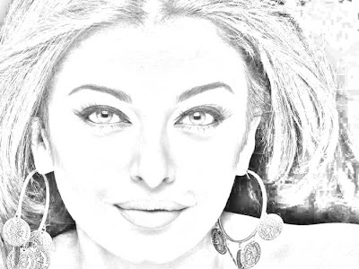 aishwarya rai pencil drawings