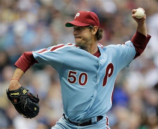 Above  Phillies  pitcher Jamie Moyer in the 1970 s retro powder blue  uniforms last night in Milwaukee. Moyer recalled getting a similar jersey  as a ... fa94db4cd66