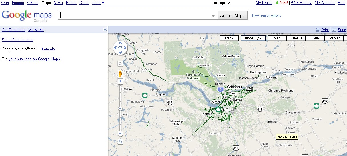 Mapperz - The Mapping News Blog: Google Maps Canada Bike ... on google maps canada ontario, map of usa canada, google map alberta canada, google satellite map canada, map quebec canada, world map canada,