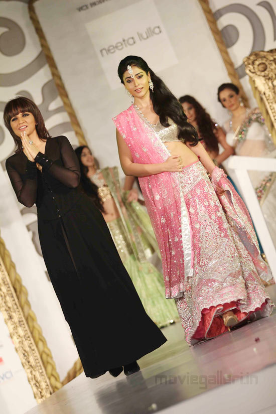 Shriya Saran Walks The Ramp With Neeta Lulla