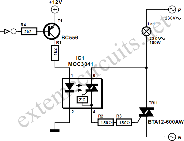 dc control for triacs diagram schematic