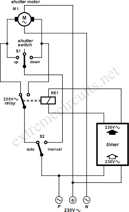 Wiring Diagram For 3 Way Switch Rolling Shutter Motor Control