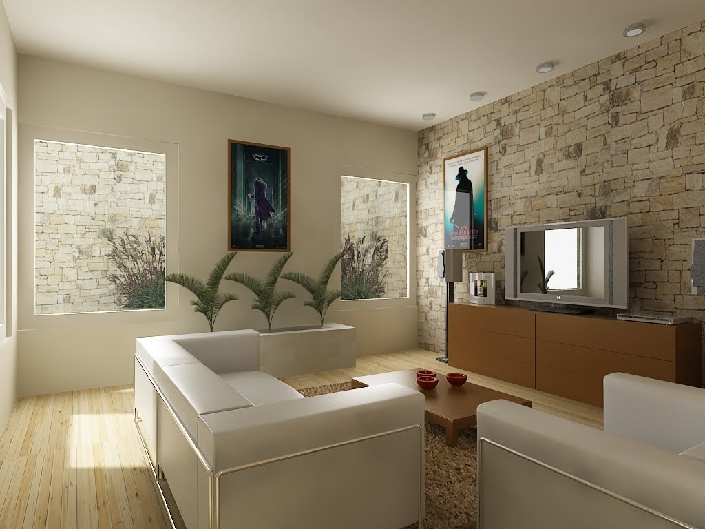 Infograf a 3d dise o arquitect nico arquitectura del - Television en casa ...