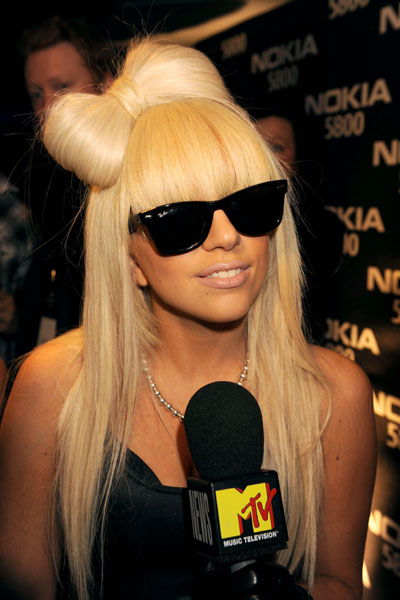 Lady Gaga Hair Bow In Black 46