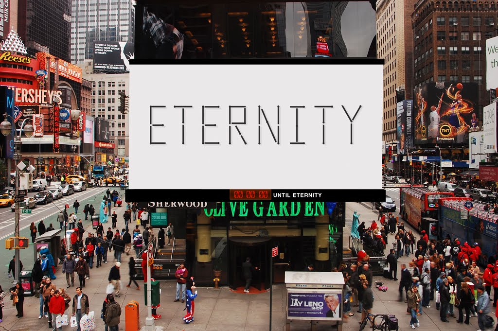 A Place In The Universe Imagine Eternity In Times Square