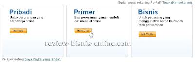 Jenis Account PayPal