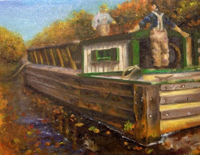 Jooyeon: #5 history painting: Life on the Erie Canal 11×14