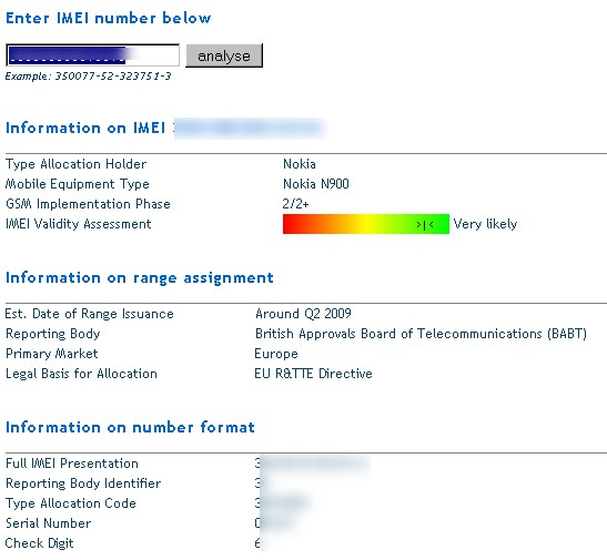 Find mobile with imei number in india