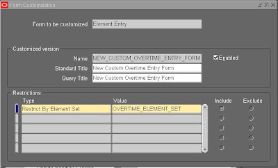 Element Sets |Oracle Applications HCM