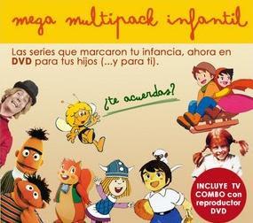 Oferta de mega multipack de series infantiles de dibujos animados y TV en DVD