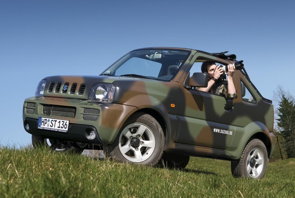 mostcar123321 suzuki jimny cabrio daktari camouflage. Black Bedroom Furniture Sets. Home Design Ideas