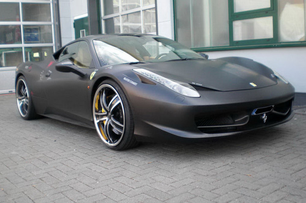 Ferrari 458 Italia Themed After F 117 Nighthawk Stealth Jet Fighter Photos