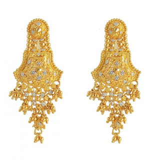 Indian Gold Earrings Designs For Women