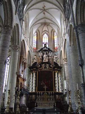 inside the St. Nicholas Church in Ghent