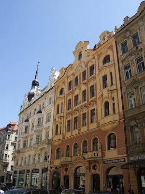 buildings at the Jewish Quarter, Prague