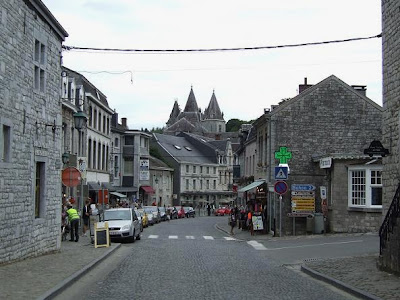 shopping street in Durbuy in Belgium