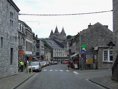 shopping street in Durbuy in Belgium