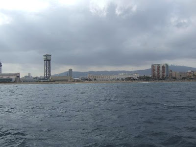 Barcelona from Mediterranean Sea