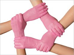 Mac Spa Pink Gloves For The Battle Against Breast Cancer