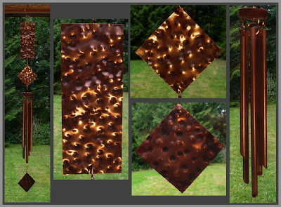 wind chime, hammered copper