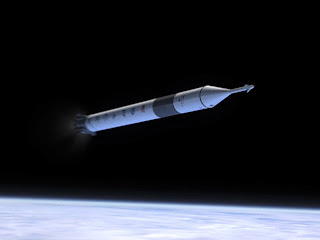 A SpaceX impression of Falcon 9 flying a manned Dragon