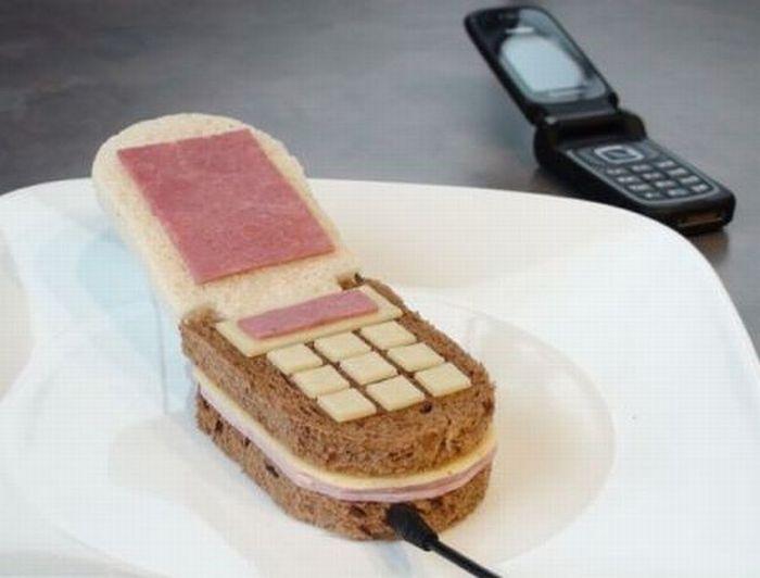 Mobile phone sandwich
