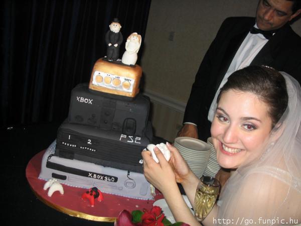 tarta de boda para gamers