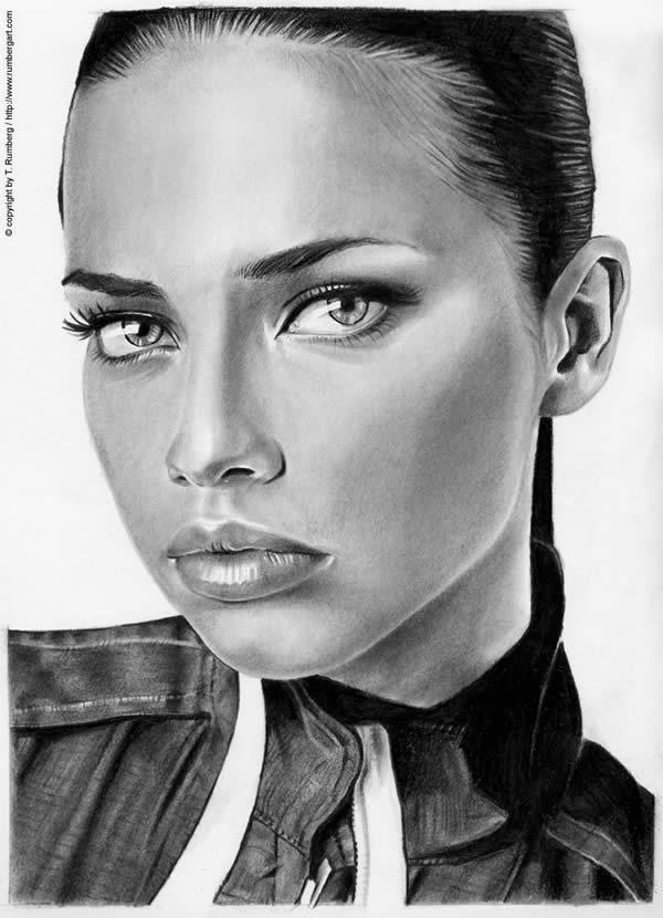 Fresh Pics: 50 Incredible Female Portrait Drawings