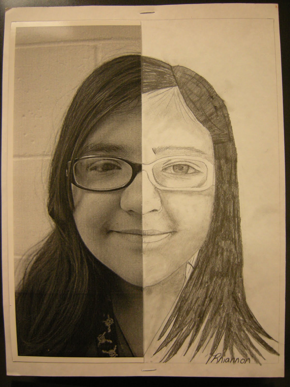 Pencil Drawing Half Face Worksheets