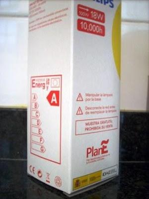 Foto de la caja de bombilla PlanE