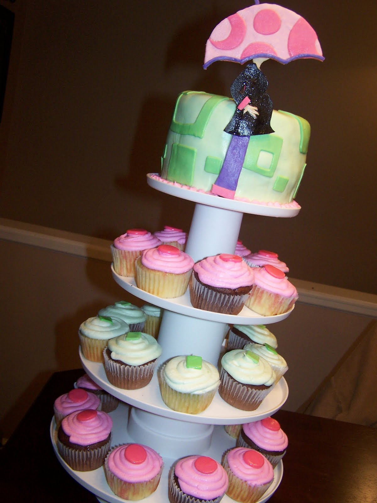 Julie Daly Cakes Baby Shower cupcake tower