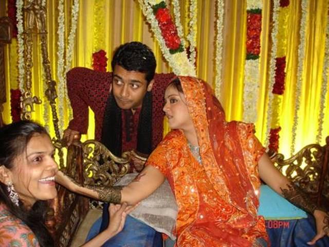 heros: surya jyothika marriage photos