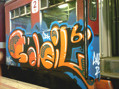 WUFC and SDK are Swedish train writing graffiti crews Writers United football club