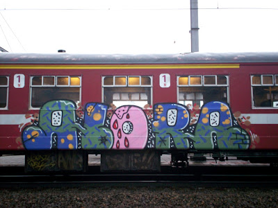 Alora Malaga train graffiti