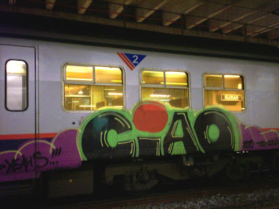 ciao yeahs train graffiti