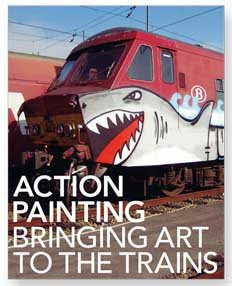 Action painting, bringing art to the trains by Kristian Kutschera