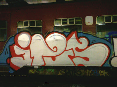 Images of european freight and  train graffiti art