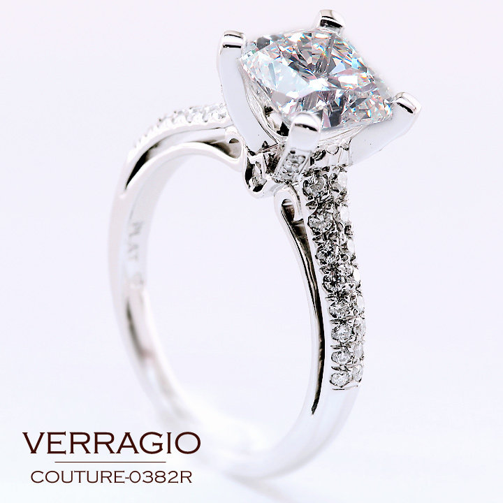 08bcdceb7e5 Here it is  two and a quarter carat cushion-cut diamond sparkling in the  COUTURE-0382R engagement ring which was customized to ...