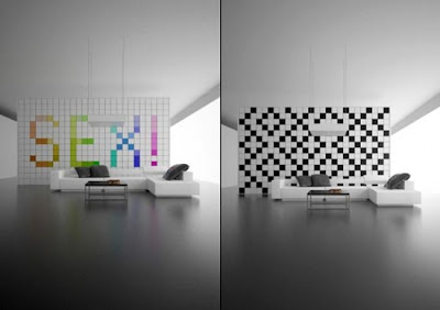 Futuristic Wall Panel Interesting Idea It Would Be Fun To Fool Friends With This Have Someone Come Over For A Visit Change The When They Leave
