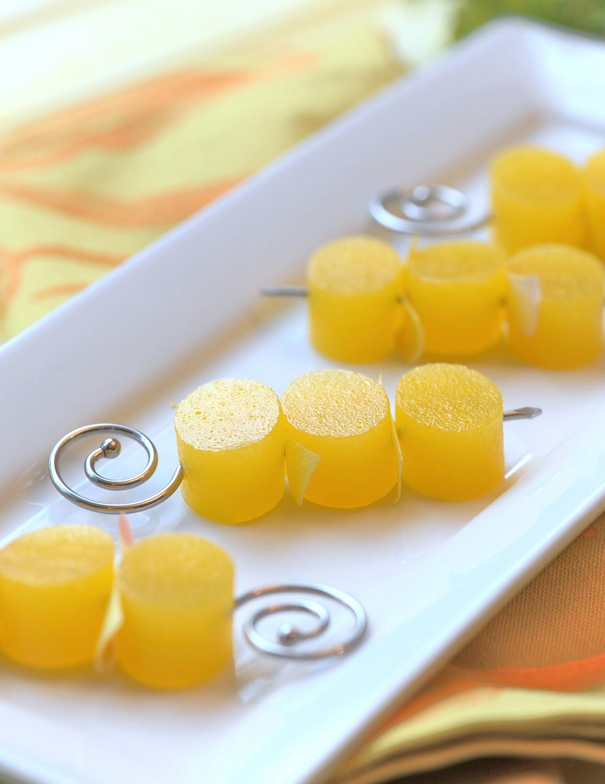 Gluten-Free Mimosa with Orange Flower Water Jello Shots