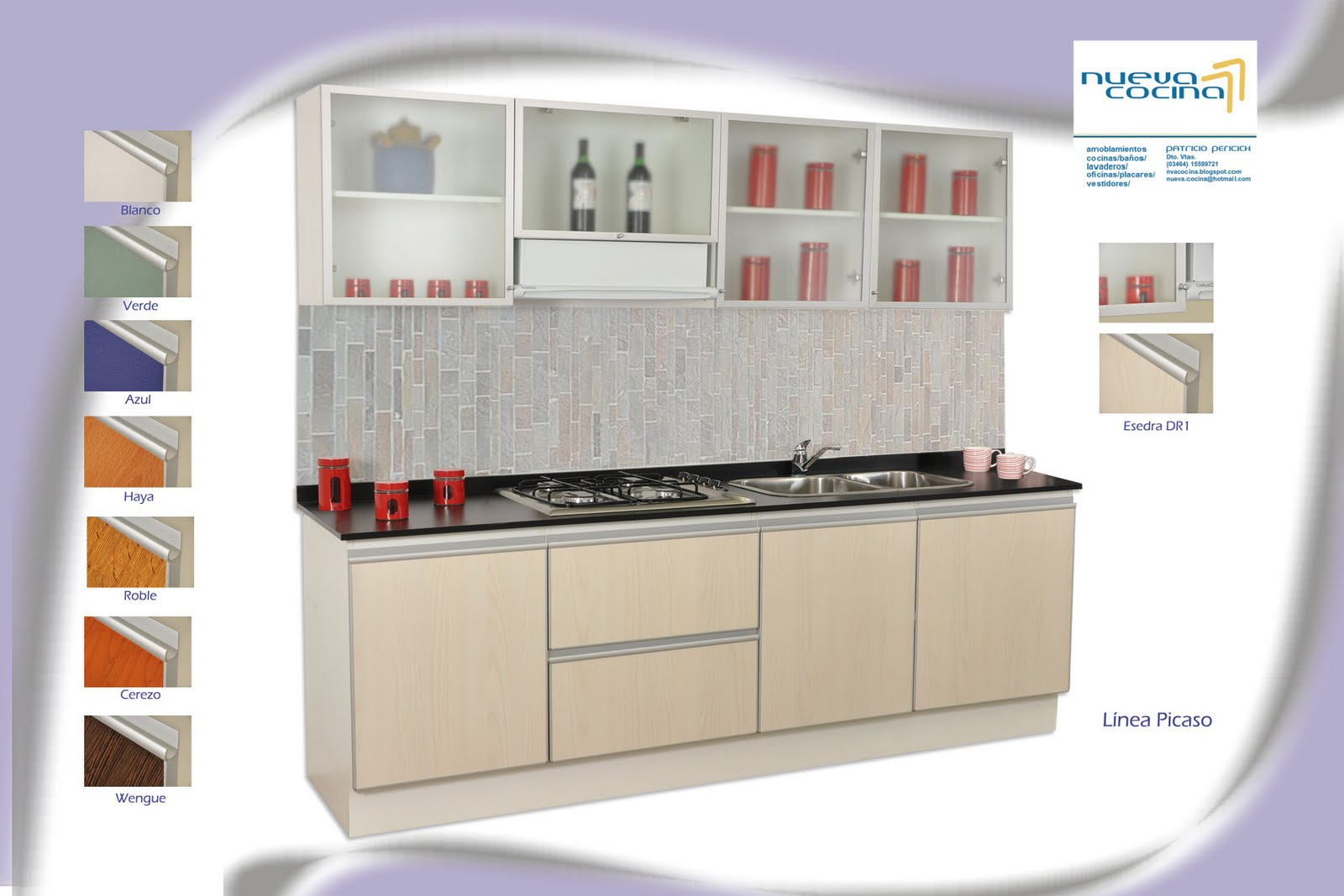 Muebles de cocina muebles para ba o muebles de for Precio de puertas de aluminio en rosario