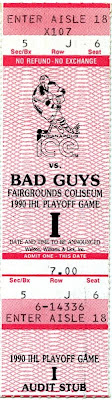 1990 Indianapolis Ice ticket stub