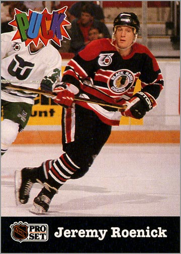 1991-92 Pro Set Puck – JR would become the 3rd Blackhawks player in history  to score 50 or more goals during the  91-92 season ef755c8d9
