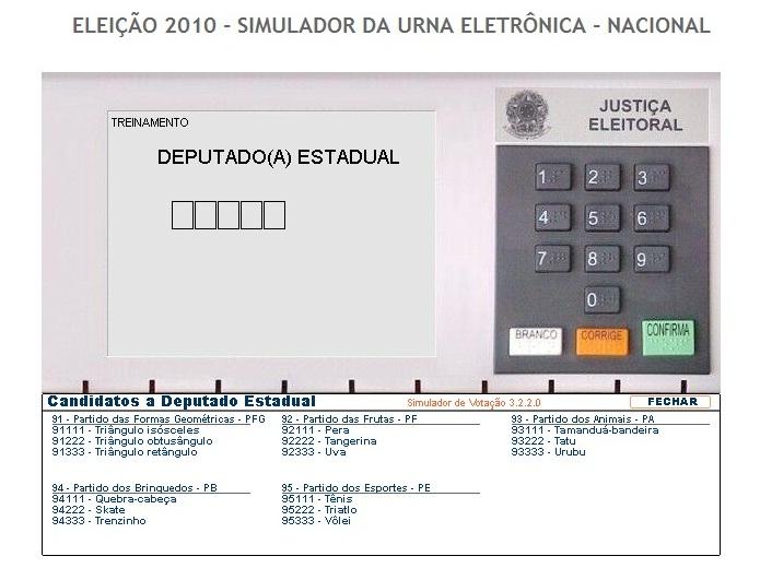 simulador das elições - 2º turno