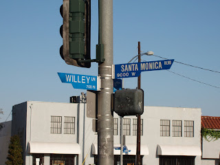 Willey Lane street sign, Los Angeles