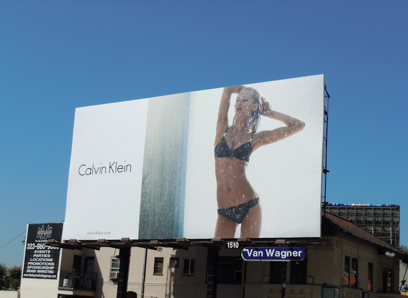 Calvin Klein hot bikini fashion billboard