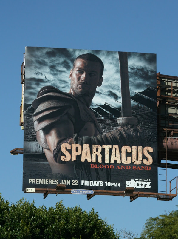 Spartacus Blood and Sand TV billboard
