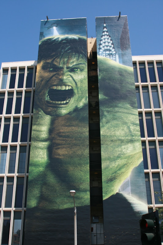 Incredible Hulk movie billboard